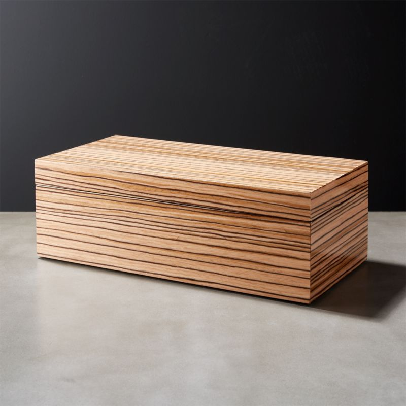 wooden storage boxes cb2