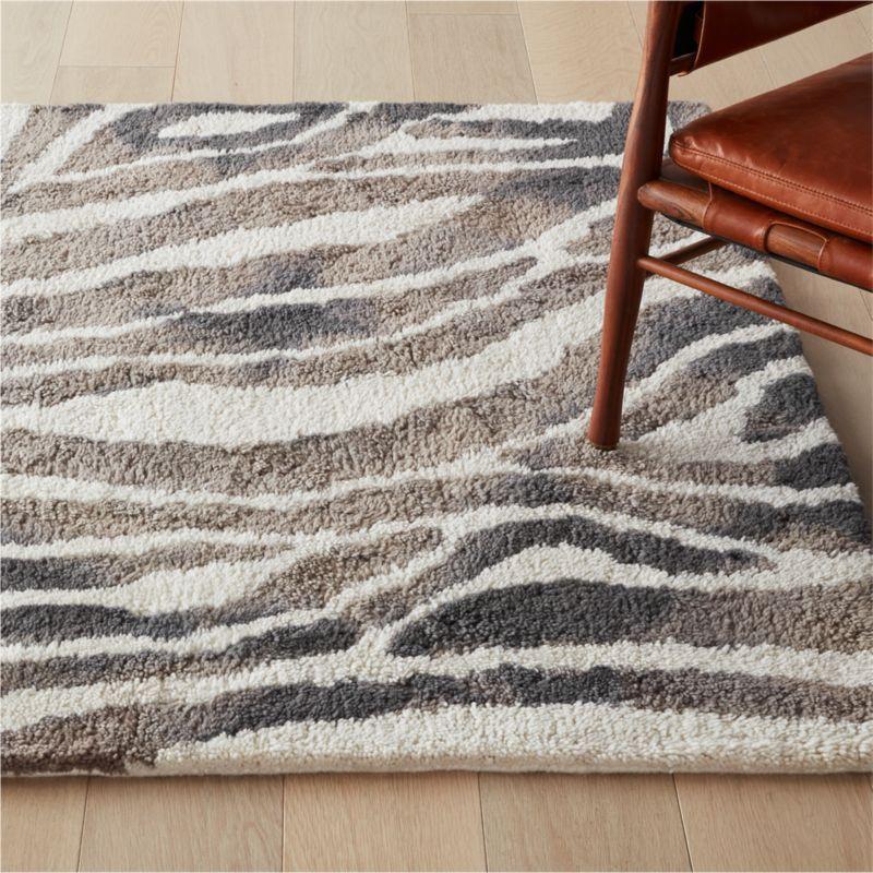 Zeeko Zebra Stripe Rug | CB2