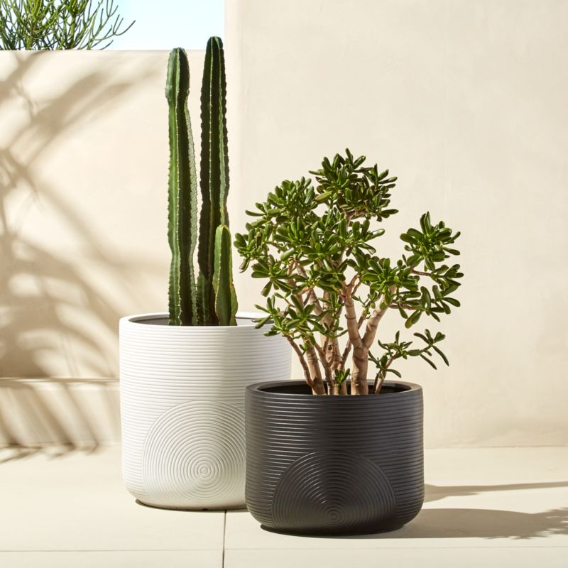 Cb2 Free Shipping >> Zen Large Clay Planters   CB2