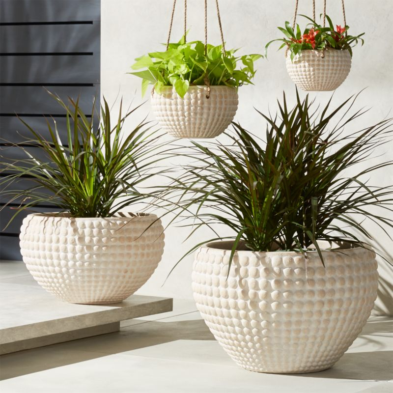 Modern Railing Planters Custom By Rushton: Zola Textured Planters