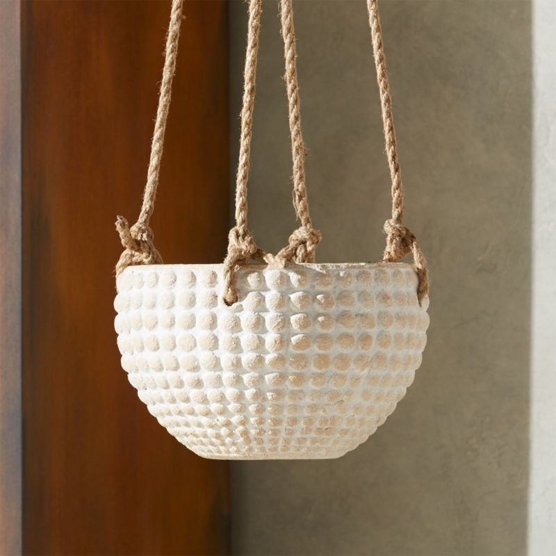 Zola Medium Hanging Planter by Crate&Barrel