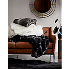 View product image Premium Grey Faux Fur Throw - image 4 of 8