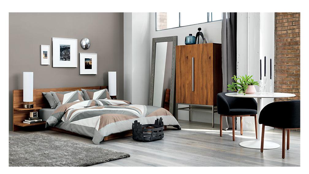 & andes acacia platform bed + Reviews | CB2