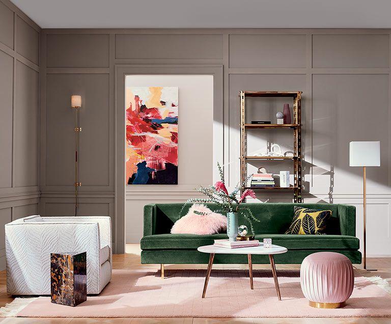 drops leather sofa room tours & Modern Living Room Ideas | CB2