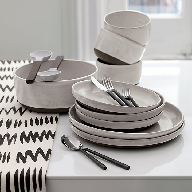 & Clay Black and White Serving Bowl + Reviews | CB2