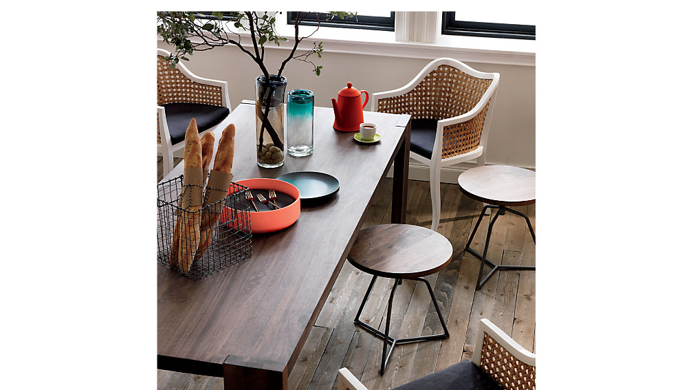 Dot Acacia Stool Table + Reviews | CB2