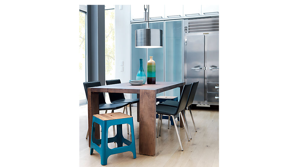 Phoenix Carbon Chair CB - Cb2 glass top dining table