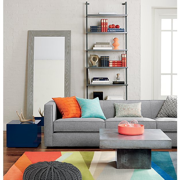 Banded Multicolor Stripe Rug X Reviews CB - Cb2 element coffee table