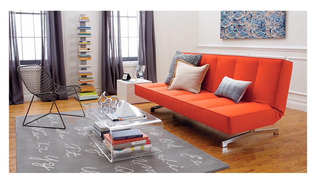 Superbe Flex Orange Sleeper Sofa + Reviews | CB2
