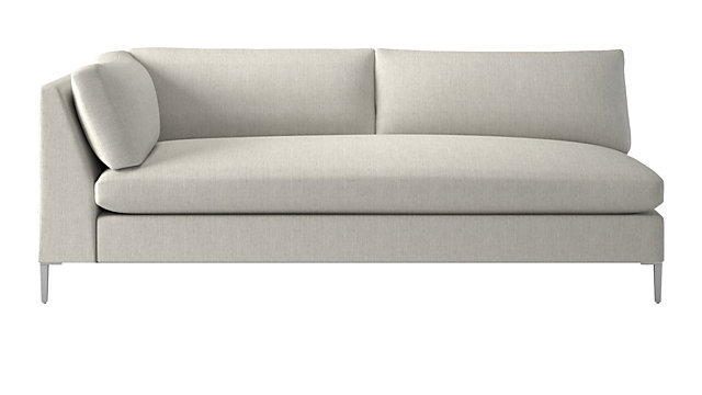 Decker Left Arm Snow Sofa. shown in Nomad, Snow