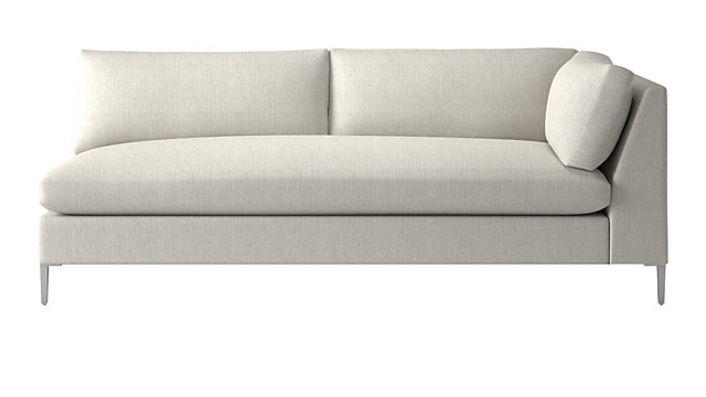 Decker Right Arm Snow Sofa. shown in Nomad, Snow