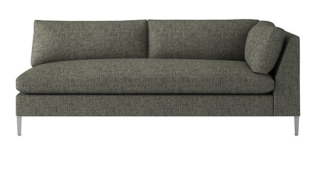 Tap To Zoom Decker Right Arm Sofa Shown In Lexi Salt And Pepper