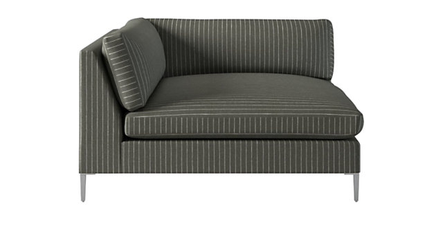 Fine Decker Left Arm Pinstripe Chaise Spiritservingveterans Wood Chair Design Ideas Spiritservingveteransorg
