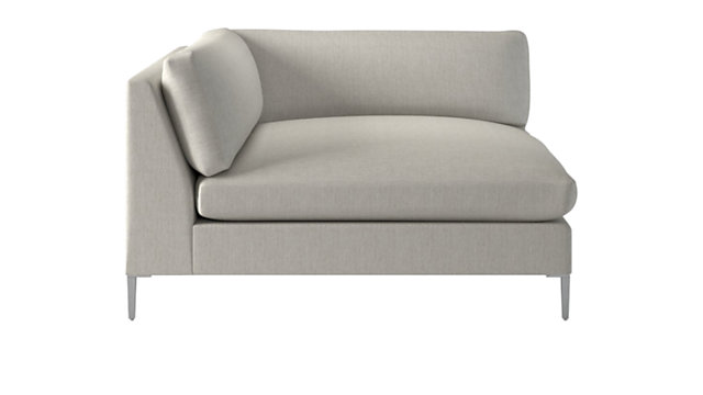 Decker Left Arm Snow Chaise. shown in Nomad, Snow