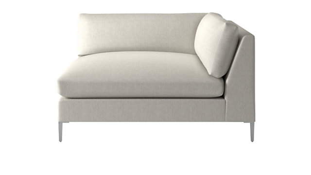 Decker Right Arm Snow Chaise. shown in Nomad, Snow