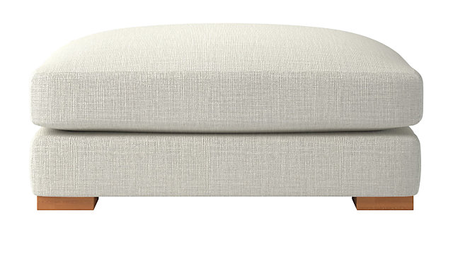 Piazza Snow Ottoman. shown in Lindy, Snow