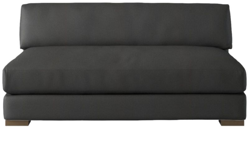Piazza Dark Grey Apartment Sofa by Crate&Barrel