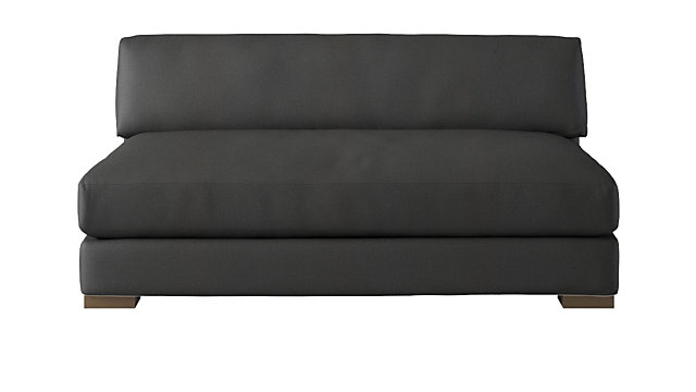 Piazza Dark Grey Apartment Sofa. shown in Dark Grey, Madrid