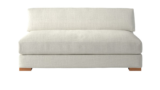 Piazza Snow Apartment Sofa. shown in Lindy, Snow