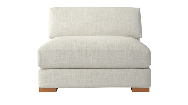 Piazza Snow Armless Chair. shown in Lindy, Snow