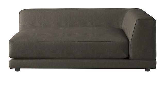Tap To Zoom Uno Right Arm Sofa Shown In Angel Pewter