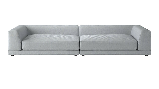 TAP TO ZOOM Uno 2-Piece Left Arm-Right Arm Sapphire Striped Sectional Sofa  (Left Arm 10cae2fa3