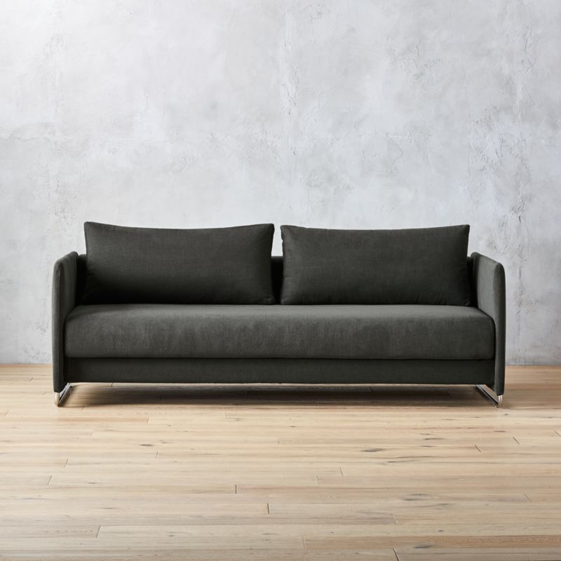 tandom dark grey sleeper sofa reviews cb2 rh cb2 com modern sleeper sofa canada modern sleeper sofas for small spaces