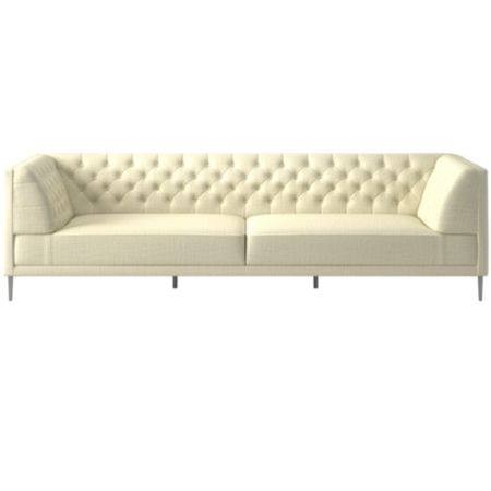 Awesome Savile Lindy Snow Tufted Extra Large Sofa Cb2 Pdpeps Interior Chair Design Pdpepsorg