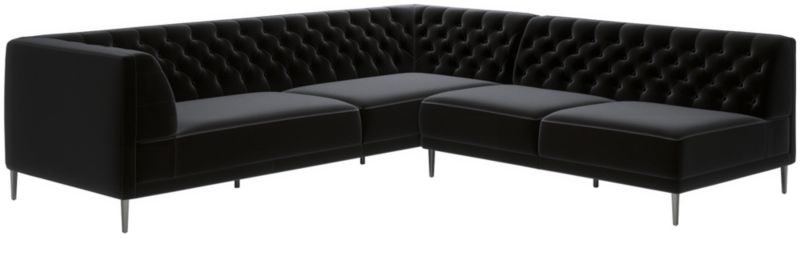 savile charcoal tufted sectional sofa reviews cb2 rh cb2 com charcoal tufted sofa bed charcoal tufted sofa bed