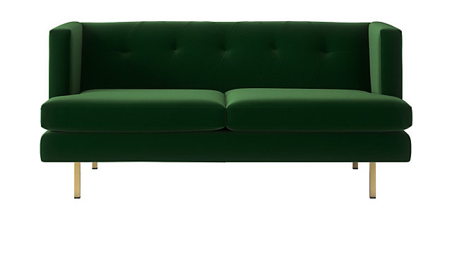 Avec Emerald Green Apartment Sofa With