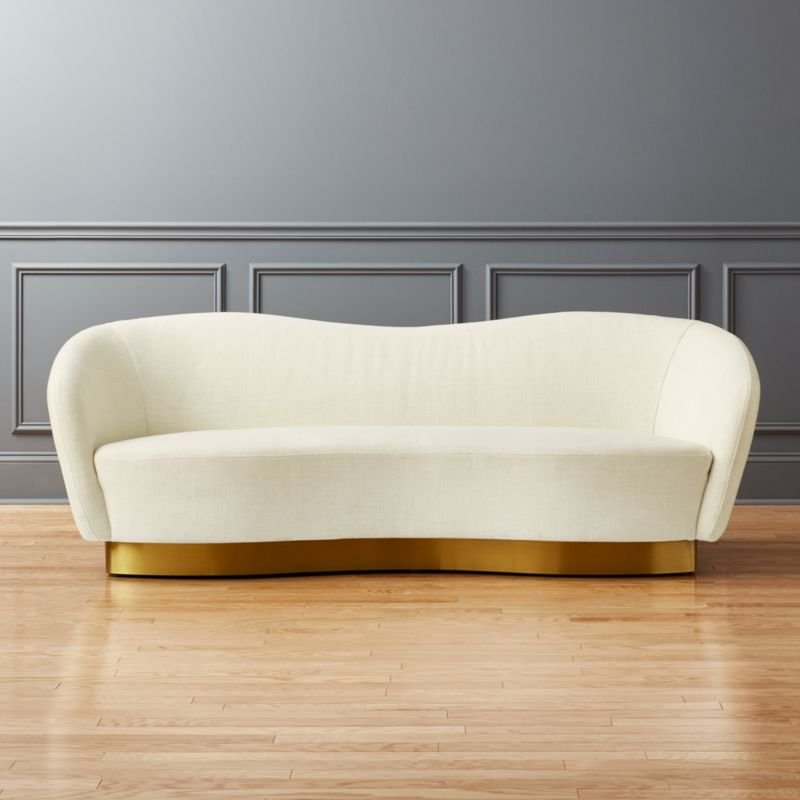 Robey White Curved Sofa + Reviews | CB2