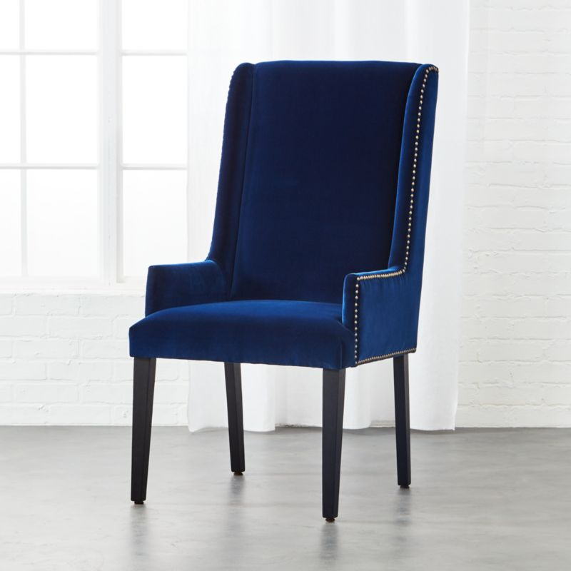 Reynolds Navy Velvet Chair Reviews Cb2