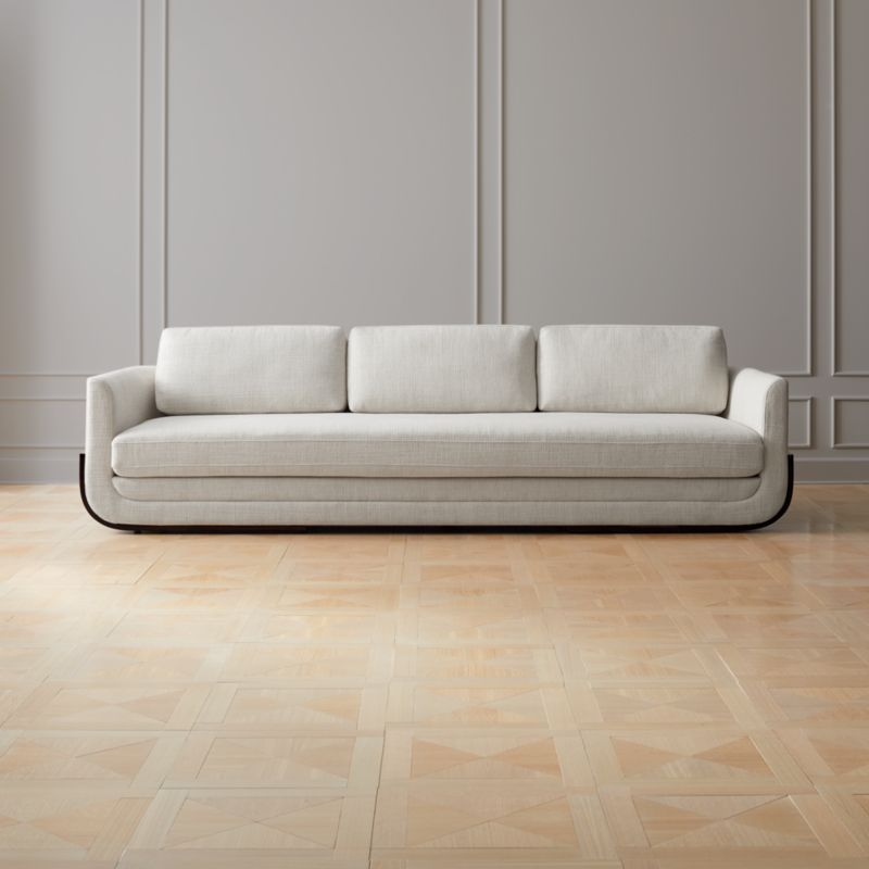 Gentil Remy White Wood Base Sofa + Reviews | CB2