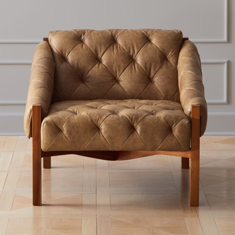 Awesome Abruzzo Brown Leather Tufted Chair Short Links Chair Design For Home Short Linksinfo