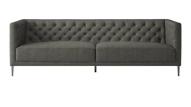 Savile Slate Tufted Sofa. shown in Nomad, Slate