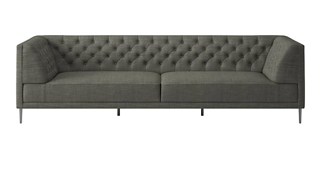 Savile Slate Tufted Extra Large Sofa. shown in Nomad, Slate