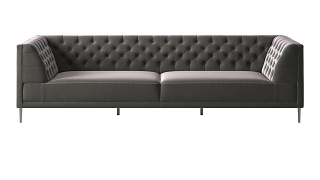 Savile Storm Velvet Extra Large Sofa