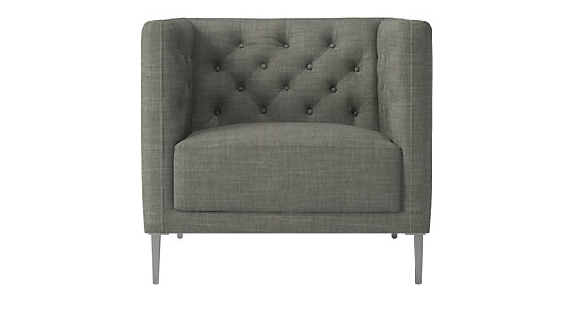 Savile Slate Tufted Chair. shown in Nomad, Slate