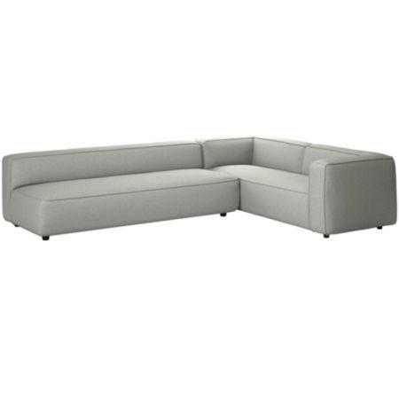 Tremendous Lenyx 2 Piece Extra Large Sectional Sunday Smoke Pdpeps Interior Chair Design Pdpepsorg