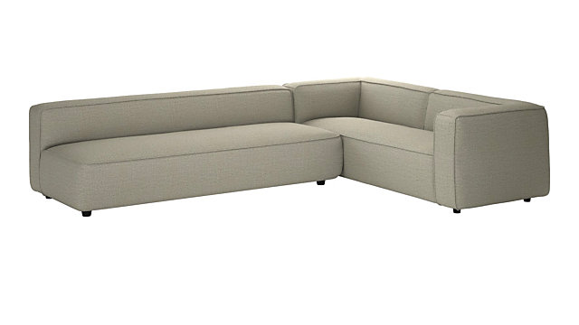 Awe Inspiring Lenyx Stone 2 Piece Extra Large Sectional Cb2 Gmtry Best Dining Table And Chair Ideas Images Gmtryco