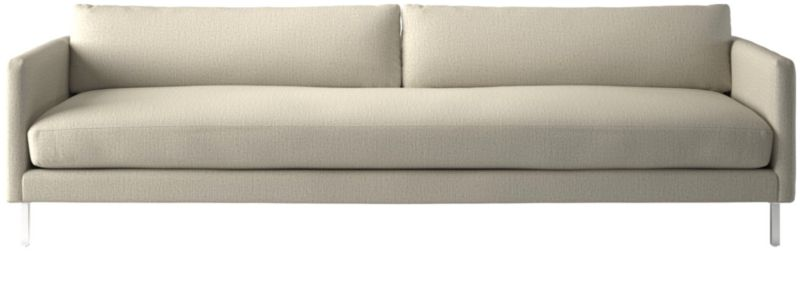 Midtown Linen Slim Sofa by Crate&Barrel