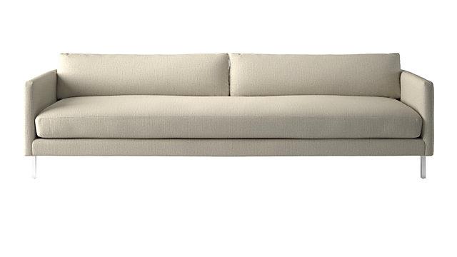 Midtown Linen Slim Sofa. shown in Finley, Linen