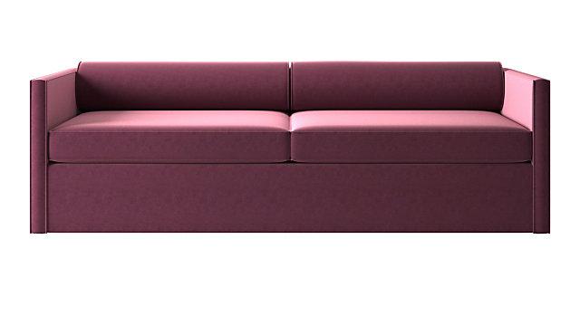 Cassidy Bolster Back Orchid Velvet Sofa. shown in Como, Orchid