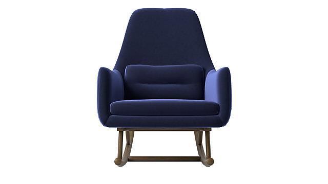Saic Quantam Navy Rocking Chair. shown in Luca, Eclipse