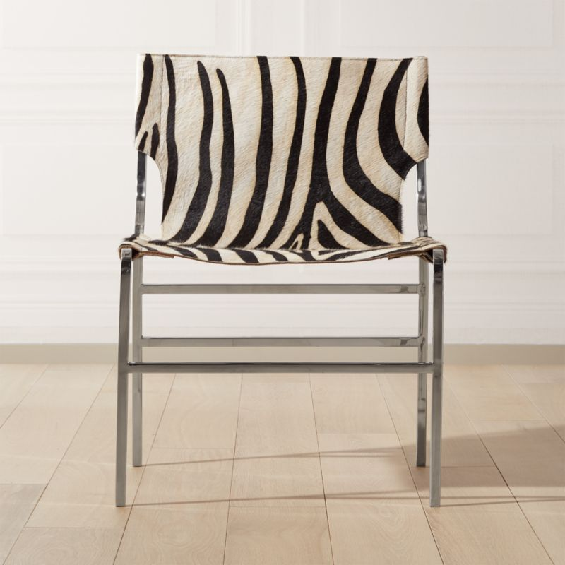 Potter Zebra Print Hair On Hide Chair