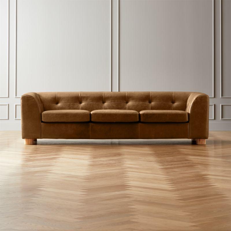Kotka Tobacco Tufted Leather Sofa