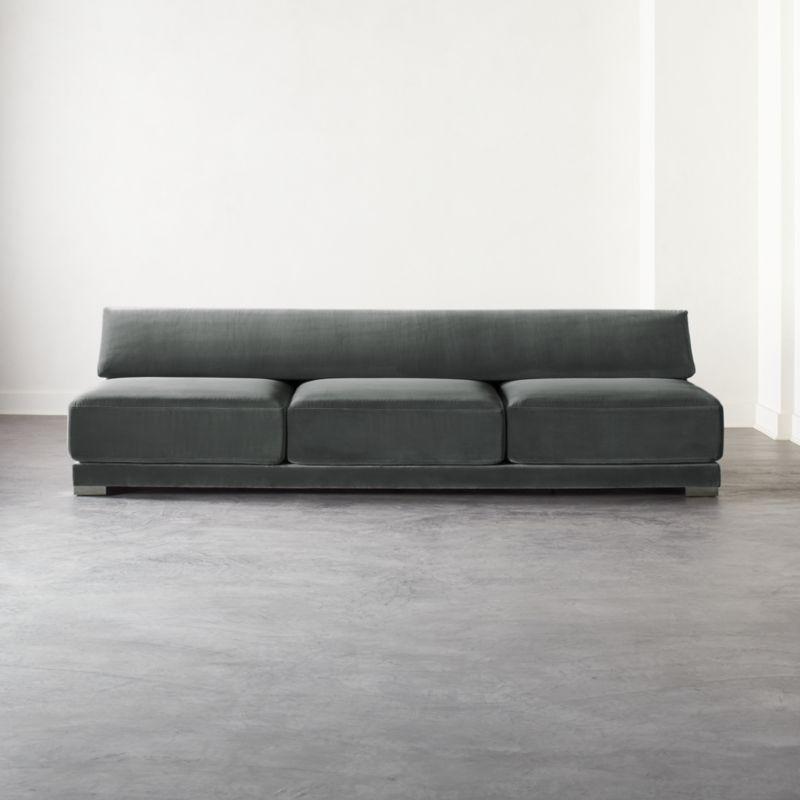 Familia Dark Grey Velvet 3 Seater Sofa