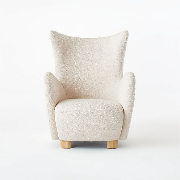 Bozzi Chair. shown in Bloce, Alabaster