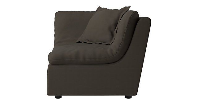 Turn Raven Corner Chair. shown in Waldorf, Raven