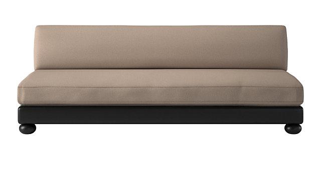 Bun Armless Sofa. shown in Alpaca, Neutral